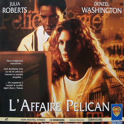 AFFAIRE PELICAN (L') WS VF LASERDISC PAL Julia Roberts, Denzel Washington