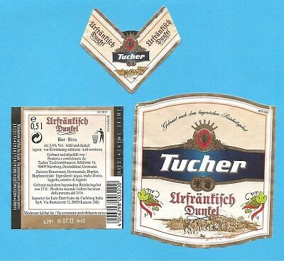 Etichetta BIRRA Tucher - Germania -  Tucher Beer LABEL- 0,5l