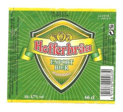 Etichetta BIRRA Hofferbrau - Italy - Hofferbrau Beer LABEL