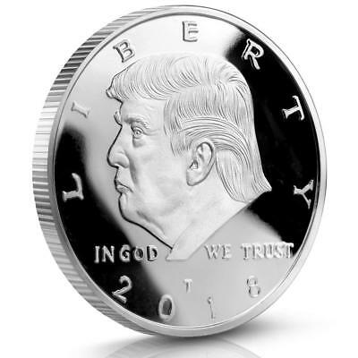 2018 Donald Trump Challenge Coin Silver Plated Commemorative coins Collectibles