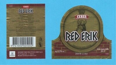 Etichetta BIRRA Red Erik - Italy - Red Erik Beer LABEL-33cl Ceres