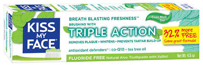 Triple Action Gel Toothpaste, Kiss My Face, 4.5 oz