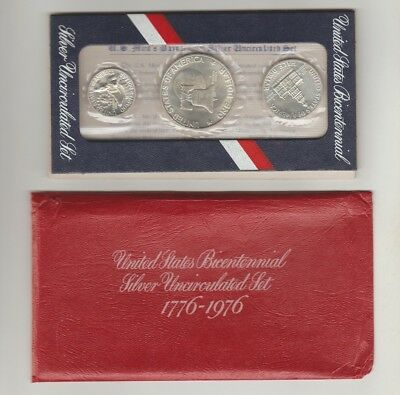 1976 United States Bicentennial Silver Uncirculated Set Argento $ Dollar [t88]