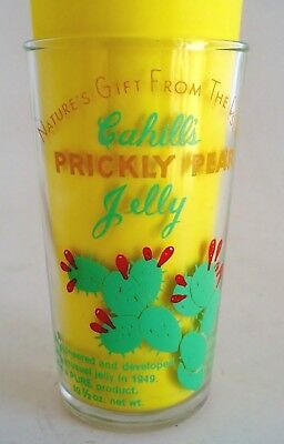 Vintage Cahill's Prickly Pear Jelly Jar Drinking Glass 1958
