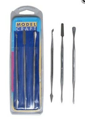ModelCraft Tools STAINLESS STEEL CARVERS SET OF 3 PDT5200/3