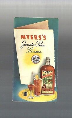 1950s Vintage Collectible Myers Jamaica Rum Cocktail Recipe Booklet