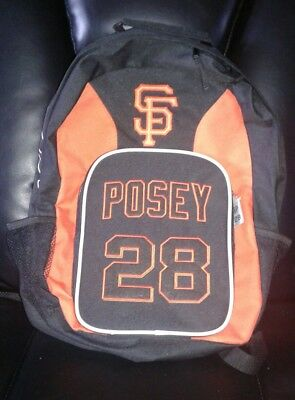 Buster Posey Backpack SF SAN FRANCISCO GIANTS BAG PACK   *Hard To Find*