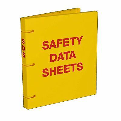 "SDS Safety Data Sheet Binder, 1"" Capacity, Polypropylene Rings, Fully Enclosed"