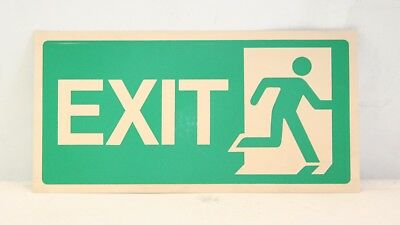 Emergency Exit Sign, 30 x 15cm. FREE p&p.