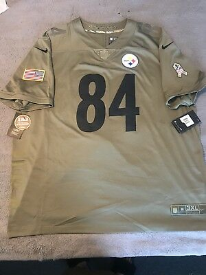 separation shoes 37a3f 2aba1 NEW PITTSBURGH STEELERS Antonio Brown Nike Salute To Service Limited Jersey  3XL