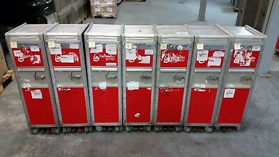 Original Air Berlin Halfsize Trolley, Rot inkl. 7 Alu-Einschübe + Goodies