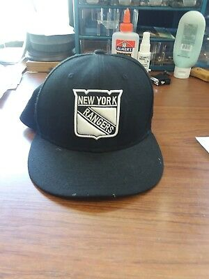 90 S NEW YORK RANGERS Snapback NHL Hockey Hat Cap VINTAGE WHITE Blue ... 4b009ba57d5d