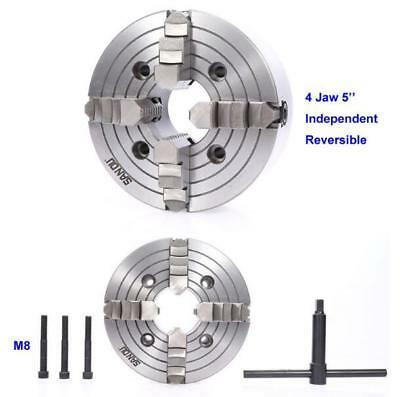 Independent Reversible CNC Tool 80MM 100MM 125MM 160MM 200MM 4 Jaw Lathe Chuck
