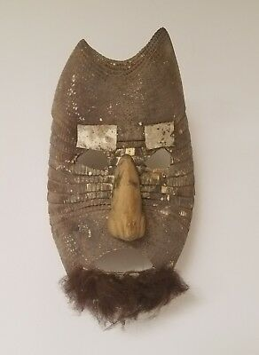 Antique Central/South American Armadillo Shell Mask RARE Tribal art