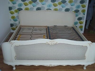Vintage -Louis Style Super King Size Bed & 2 matching bedsides tables