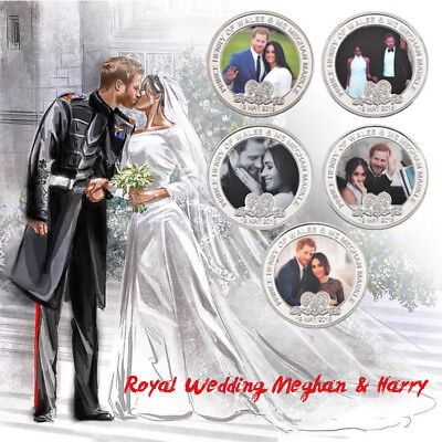 Silver Coin Harry and Megan Baby Birth A Little Princess Royal Wedding Colletion