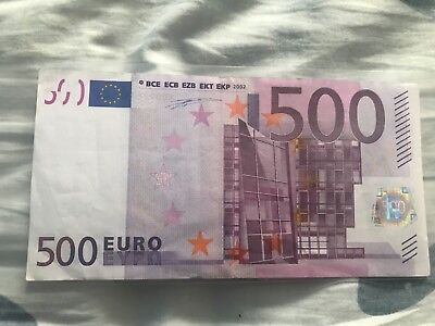 500 Euro Banknote From Germany Prefix-X 2002