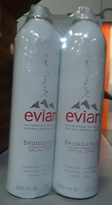 Evian Facial Spray Mineral Water Facial Spray, 10 oz (Pack of 2) No Pink Caps