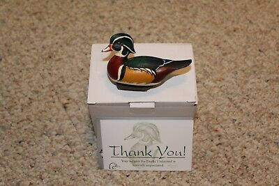 Jett Brunet Miniature Wood Duck decoy - ducks unlimited #2