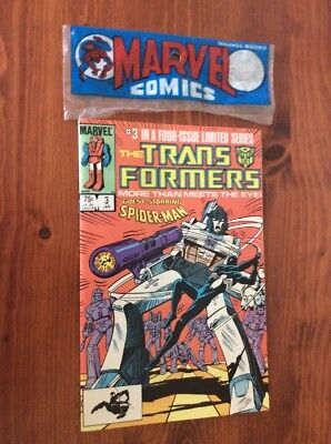 Transformers (Marvel) 1st Printing #3 1985 Unread Comic Book