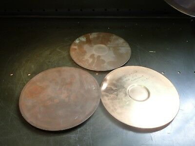 """3 Piece Lot of USA Standard Testing Test Sieve ASTM E-11 8"""" Brass Top Lids, Used"""