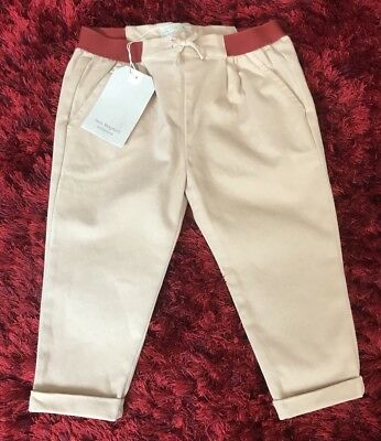 Baby Girls Brown Chino Trousers Age 12/18 Months New ZARA Rrp 15.99
