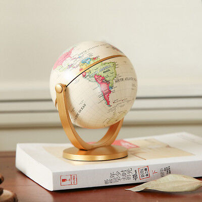 Rotating World Map Earth Globe Swivel Geography Political Educational Tool
