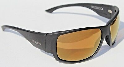 d6eb7b4dc8d5b SMITH OPTICS Dockside POLARIZED Sunglasses Matte Black Bronze ChromaPop NEW   219