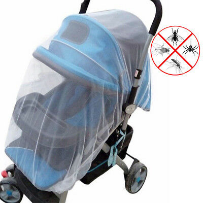 Baby Infant Stroller Pushchair Pram Mosquito Fly Insect Net Mesh Buggy Cover NEW