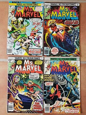Ms.Marvel #s 2,3,4 & 5 Marvel Comic  1977.