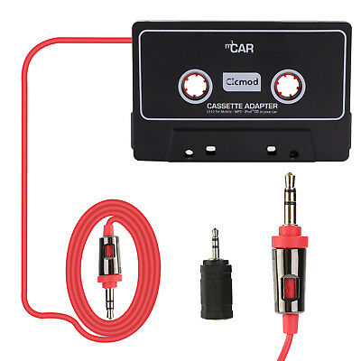 2018 3.5mm Car Cassette Tape Aux Adapter Cable Cord iPod MP3 Player Audio Stereo