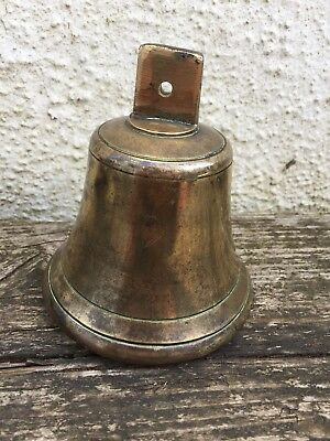 "4"" Vintage Ship : School Brass Bell For Hanging On Bracket"