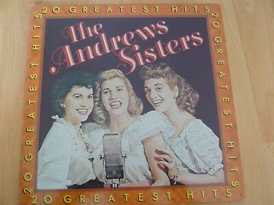 The ANDREW SISTERS - 20 Greatest Hits  -LP-