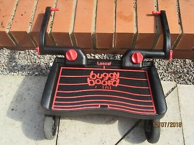 Lascal buggy board miniwith uncut connectors and strap