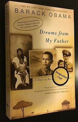 AUTOGRAPHED HAND SIGNED Dreams From My Father by Barack Obama PB Ed COA Free S&H