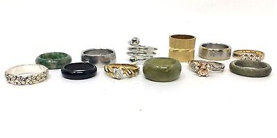 Vintage Group of (12) Rings Sizes Vary Lot #319