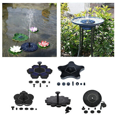 Solar Fountain Water Pump Floating Garden Pond Pools Fish Tank Bird Bath