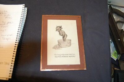 antique black americana post card framed with COA no reserve must see!!