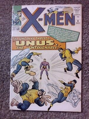 X-men #8 1st Appearance Of Unus The Untouchable Silver Age Marvel Comic November