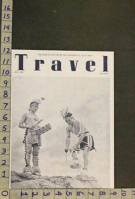 1947 Western Americana Indian Ethnic Tribe Culture Hoop Dance Photo Cover Rv54