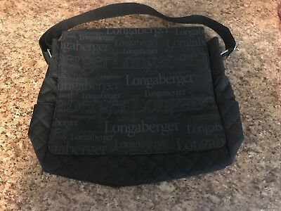 Longaberger Logo Quilted Purse Laptop Travel Messenger School Bag - Consultant