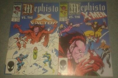 Mephisto vs #2 and #3. Mephisto vs the X-Men /Mephisto vs the X-Factor