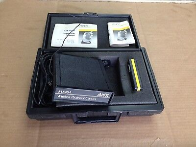 AMX MX40A Wireless Slide Projector Control Unit Systems W/ Remote Control
