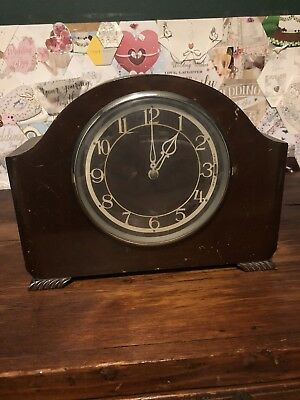 smiths sectric Westminister Chiming clock Model 296 Used Not Working