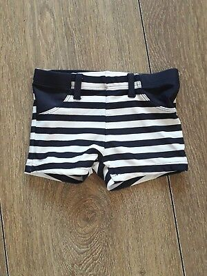 F&f Baby Boys Striped Swimming Trunks Age 9-12.months