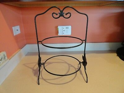 """Longaberger Wrought Iron Double 10"""" Pie Plate Stand"""