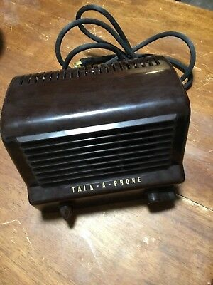 Vintage Bakelite Talk-a-Phone Intercom System. Not plugged in. For project.