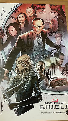 Marvel Agents of S.H.I.E.L.D. SDCC Comic-Con Poster Signed By 10 Cast Members!.