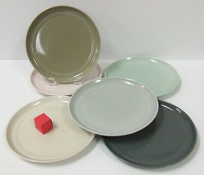 CRATE AND BARREL Hue Pattern Set Of 6 Salad Plates Various Colors ...