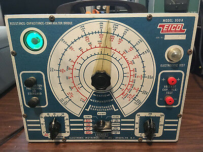 Eico Model 950A Capacitor Tester  Powers Up